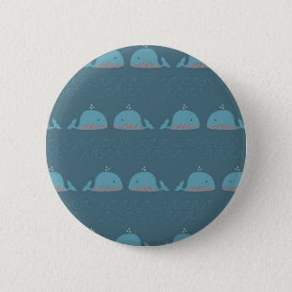 Ocean and Whale Print 2 Inch Round Button