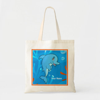 Ocean Aquatic Cute Dolphin Custom Tote