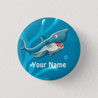 Ocean Aquatic Cute Shark Custom Button