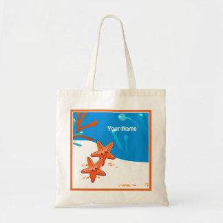 Ocean Aquatic Cute Starfish Custom Tote Budget Tote Bag
