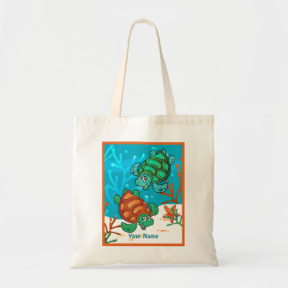 Ocean Aquatic Cute Turtle Custom Tote