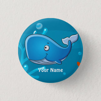 Ocean Aquatic Cute Whale Custom Button