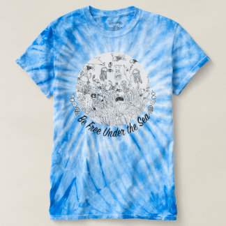 Ocean Artwork T-Shirt - Be Free Under the Sea!