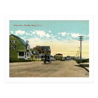 Ocean Ave., Bradley Beach, New Jersey Vintage Postcard