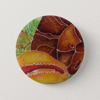 Ocean batik badge 2 inch round button