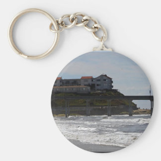 Ocean Bay Pier Basic Round Button Keychain