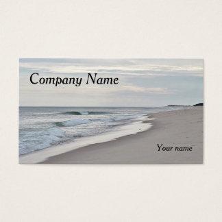 Ocean beach and waves business card