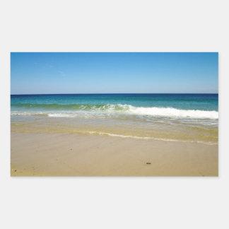 Ocean beach and waves sticker
