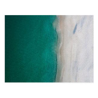 Ocean beach beautiful green water and white sands postcard