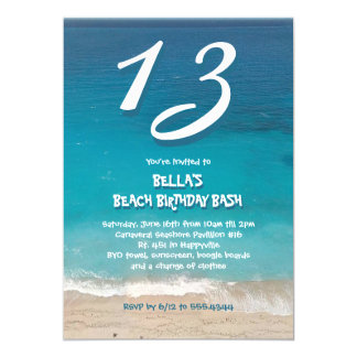Ocean Beach Birthday Party for Kids Card