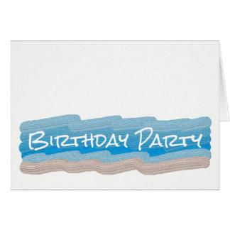 Ocean Beach Birthday Party Invitation