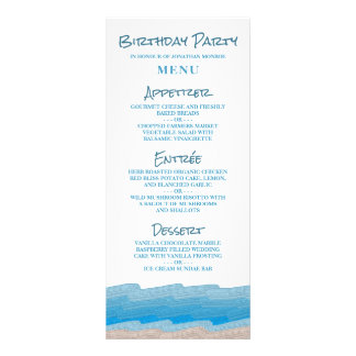 Ocean Beach Birthday Party Rack Card