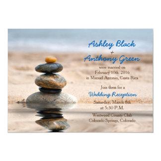 Ocean Beach Destination Wedding Reception Only Card