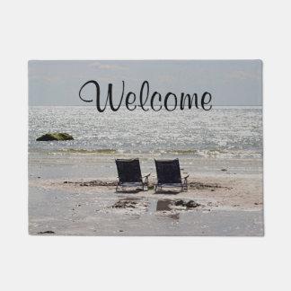 Ocean beach doormat