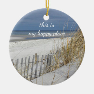 Ocean Beach on Cape Cod Ceramic Ornament