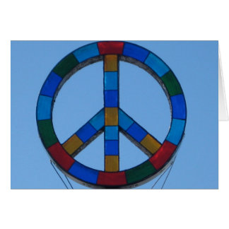 Ocean Beach Peace Sign Card