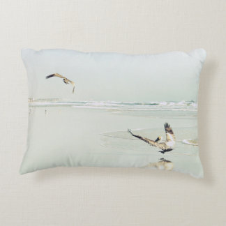 Ocean Beach Pelicans Pelican Poly Pillow