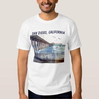 OCEAN BEACH PIER J PEC, SAN DIEGO, CALIFORNIA TEES