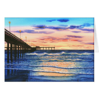 OCEAN BEACH PIER SUNSET CARD