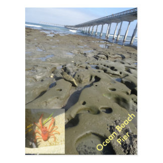 Ocean Beach Pier tidal pools postcard