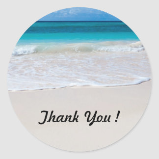 Ocean Beach Round Thank You Stickers