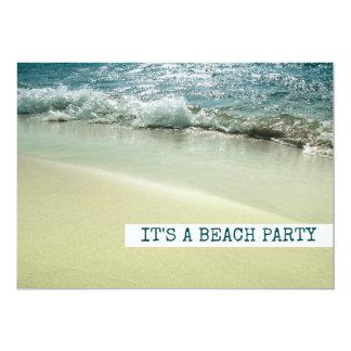 Ocean, Beach Sandy Shoreline Gentle Waves Card