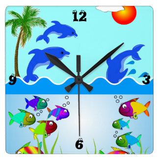 Ocean Beach Scene Clock