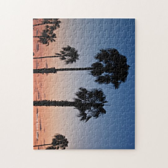 """Ocean Beach Sunset"" Jigsaw Puzzle by DortImages"