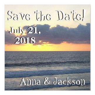 Ocean Beach Sunset Save Date Magnet Card
