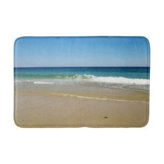 Ocean beach waves bath mat