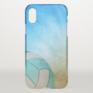 Ocean Beach Women's Volleyball personalized iPhone X Case