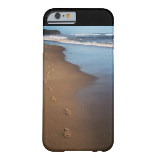 Ocean Beaches and Footprints in the Sand Barely There iPhone 6 Case
