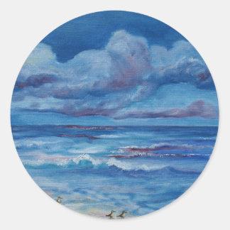 Ocean Birds Classic Round Sticker