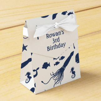 Ocean Birthday Favour Box with custom text Favor Boxes