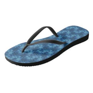 Ocean Blue Adult, Slim Strap Flip Flops
