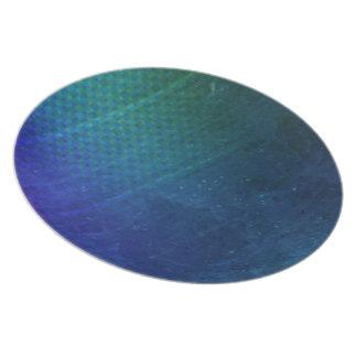 ocean blue dinnerware plate