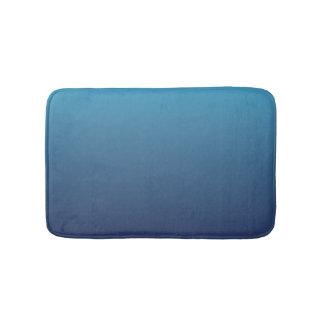 Ocean blue gradient template bath mat