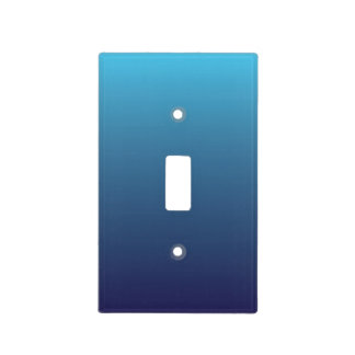 Ocean blue gradient template light switch cover