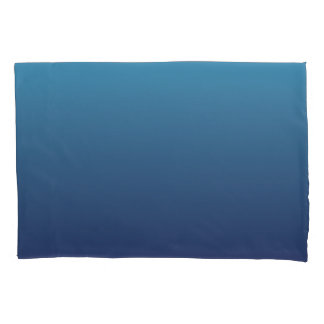 Ocean blue gradient template pillowcase