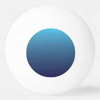 Ocean blue gradient template ping pong ball