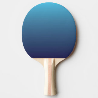 Ocean blue gradient template ping pong paddle