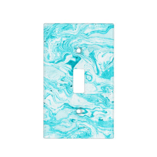 Ocean Blue Marble Light Switch Cover