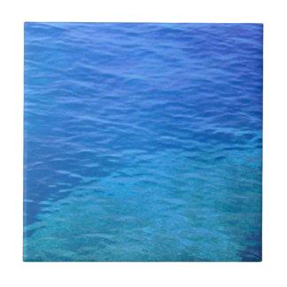 Ocean blue more water waves tile