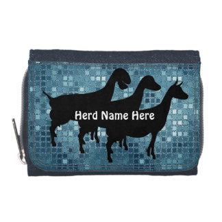 Ocean Blue Mosaic Goat Herd Name Wallet