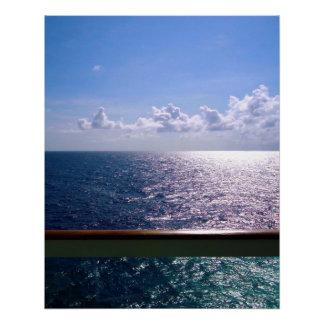 Ocean Blue Perfect Poster