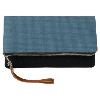 Ocean-Blue-Plaid-Royalty-Fabric's(c)Multi-Colors Clutch