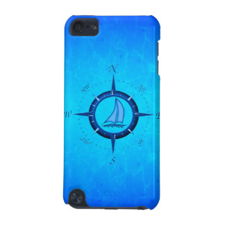 Ocean Blue Sailboat And Compass Rose iPod Touch 5G Covers