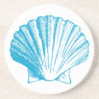 Ocean Blue Seashell Coaster