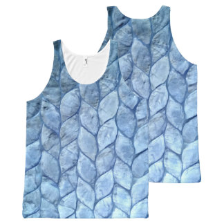 Ocean Blue Shells All-Over-Print Tank Top
