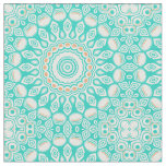 Ocean Blue Turquoise Medallion Fabric
